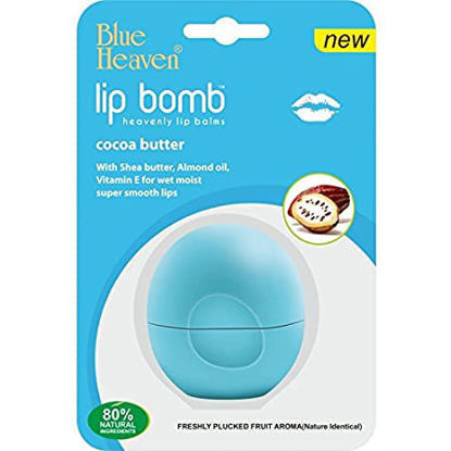 Blue Heaven Lip Bomb- Bubble Gum, Cocoa Butter